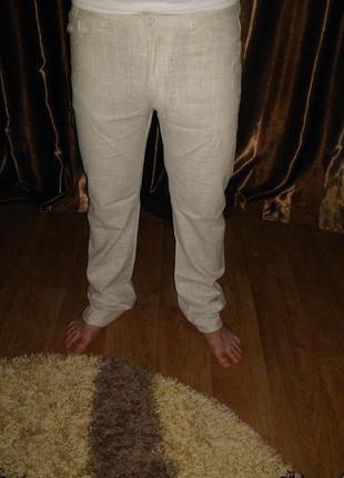 Льняные  мужские  штаны
