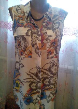 Цветная рубашка-блуза next