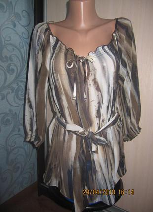 Шифоновая блузка с четвертным рукавом tu размер м