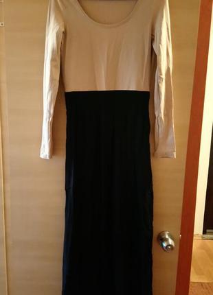 Легкое платье в пол/возможен обмен