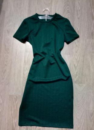 Новое платье обтягивающее по фигуре oodji размер s мини миди платье