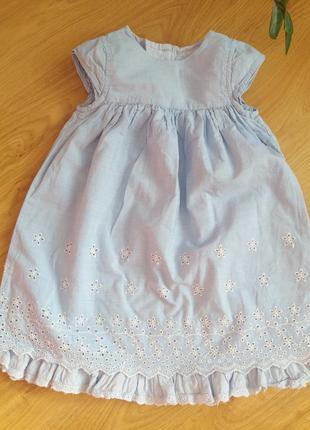Хлопковое платье mothercare на рост 80