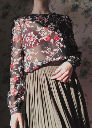 Блуза с цветочным принтом atmosphere