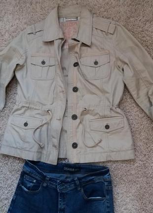 Котоновый пиджак 48 размер