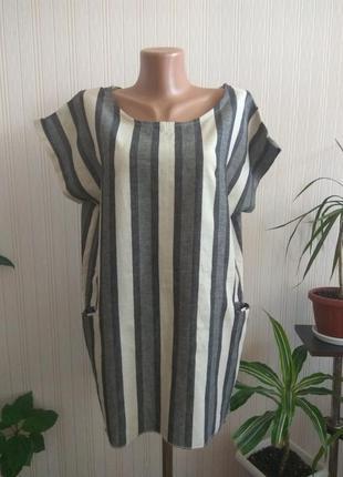 Блуза туника лен