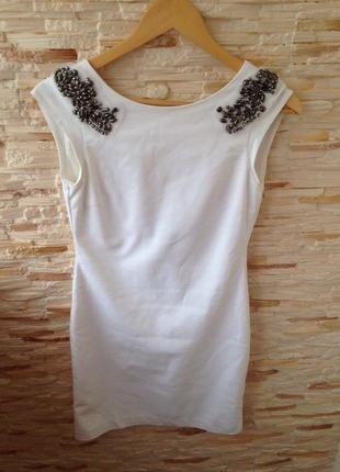 Платье с плотной ткани