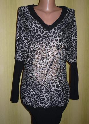 Очень красивая кофта италия, туника леопардовой расцветки, блуза, джемпер