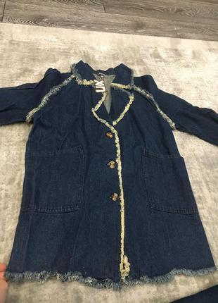 Стильные джинсовые плащи на модниц1