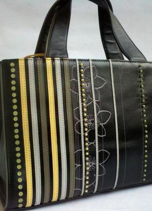 Большая дорожная кожаная сумка косметичка клатч состояние отличное