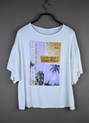 Фирменная белая футболка от английского бренда f&f