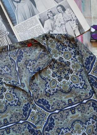 Асимметричная  блуза с интересным принтом s.oliver