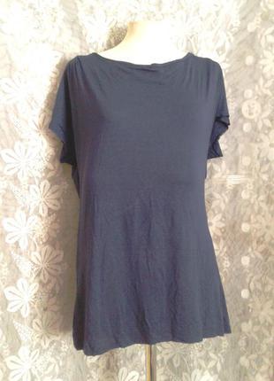 Синяя футболка, l - xl.3 фото