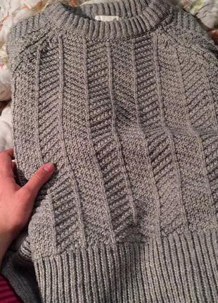 Серый свитер h&m