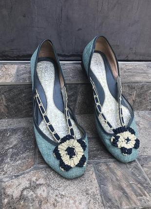 Комбинированные туфли,лодочки,балетки mascotte