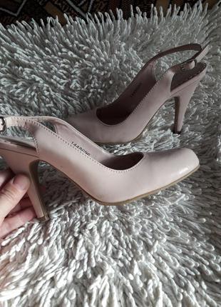 Пудровые босоножки- туфли
