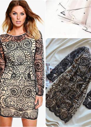 Англия вечернее платье коллекции boutique оригинал boohoo/  вишукане вечірнє плаття
