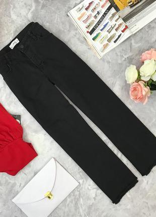 Укороченные широкие джинсы с необработанными краями   pn181871  mango