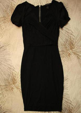 Отличное платье, трикотаж джерси + хлопковые вставки, сзади по молнии драпировка