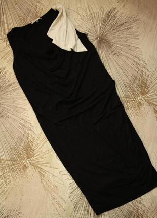 Трикотажное платье для беременных c драпировкой под животик