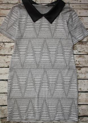 Стильное платьице из плотного трикотажа s-m 10/m по бирке