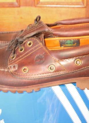 Кожаные timberland  мокасины туфли лоферы топсайдеры кроссовки
