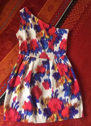 Платье летнее topshop ассиметричное
