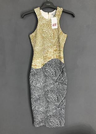 Платье миди в облип `h&m