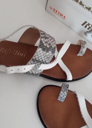 Эффектные кожаные босоножки сандалии rifellini p.38 (37) 24 см