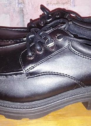 Кожаные туфли clarks, осень-зима, 43р