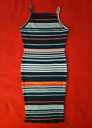 Трендовое платье сарафан в рубчик new look