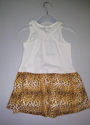 Стильное трикотажное платье для девочки 18-24мес, 3-4года2
