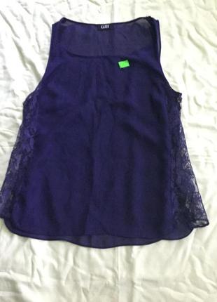 Шифонова блузка з гіпюром