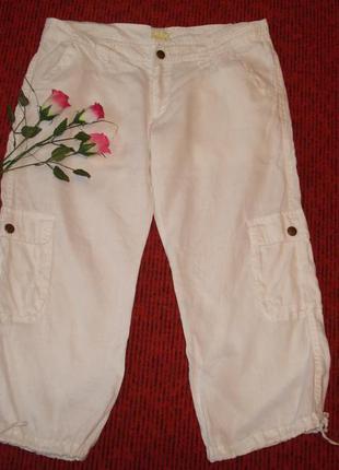 Шикарные фирменные белые бриджи , размер 12-14