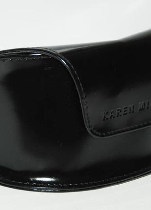 Черный , лаковый футляр для очков karen millen