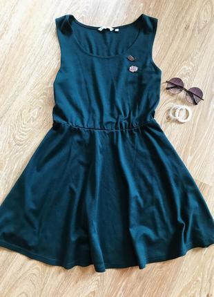 Платье new look насыщенного изумрудного цвета