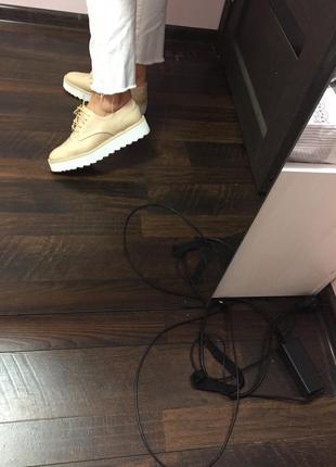 Лоферы ботинки zara на платформе
