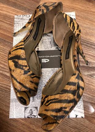 Туфли леопардовой расцветки - 26,5 см стелька