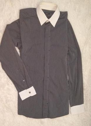 Mexx рубашка сорочка мужская/подросток р.s-m/44-46 в полоску