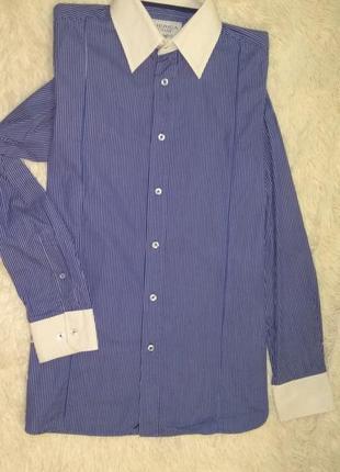 America today рубашка сорочка мужская/подросток р.m/44-46 в полоску