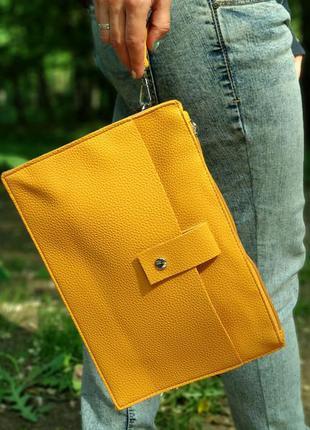 Супер стильная сумка-папка, экокожа