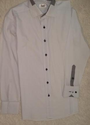 Dolce & gabbana оригинал рубашка сорочка мужская/подросток р.m/44-48 белая