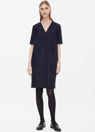 Cos шерстяное платье с подкладкой