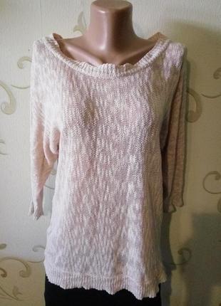 Vero moda . лёгкий хлопковый свитер реглан кофточка.
