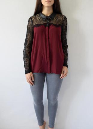 Блузка с кружевом lipsy london
