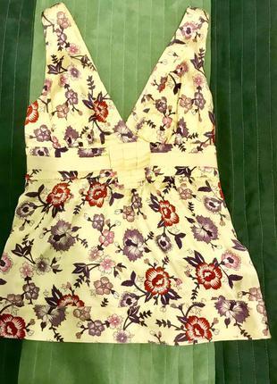 Шёлковая майка блуза италия