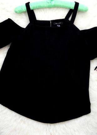 Черная блуза new look  с открытыми плечами
