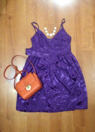 Эффектное платье от topshop цвет сезона 100% вискоза
