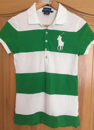 Шикарна брендова, оригінальна футболка-поло  ralph lauren