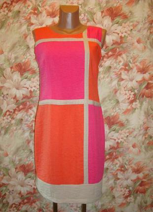 Платье-футляр\сарафан из вискозы р.10-12