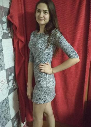 Супер платье с леопардовым принтом oodji